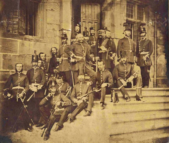 Officers at Great  Castle House 1860